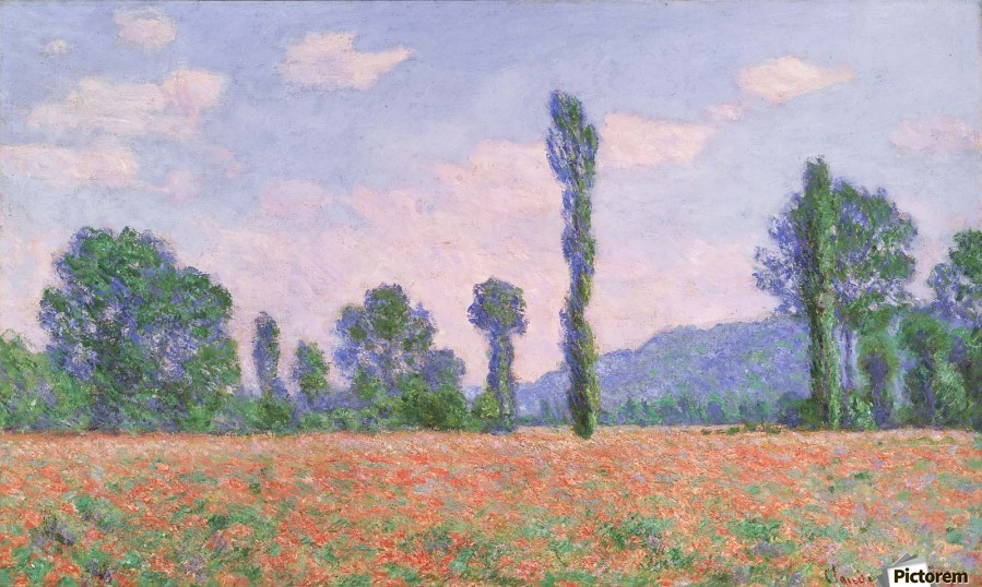 Field of Poppies near Giverny  Print